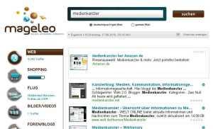 Aufgeräumt: Die Suchmaske von mageleo
